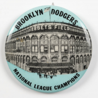 Vintage 1950's Dodgers Ebbets Field National League Champions Pin at PristineAuction.com