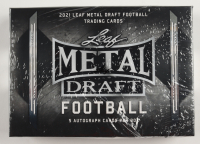 2021 Leaf Metal Draft Football Hobby Box at PristineAuction.com
