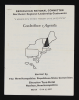 George H.W. Bush Signed Conference Packet (JSA COA) at PristineAuction.com