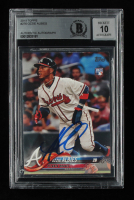 Ozzie Albies Signed 2018 Topps #276 RC (BGS Encapsulated) at PristineAuction.com