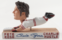 """Pete Rose Signed LE Reds Hand-Painted Ceramic Bobblehead Inscribed """"Charlie Hustle"""" with Original Packaging (PSA COA) (See Description) at PristineAuction.com"""
