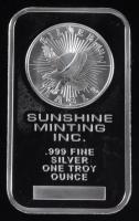 1 Troy Ounce .999 Fine Silver Sunshine Minting Inc. Bullion Bar at PristineAuction.com