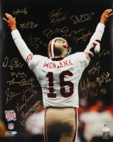 1989 49ers Super Bowl XXIV Champions 16x20 Photo Team-Signed by (20) with Joe Montana, Jerry Rice, Roger Craig, John Taylor (Beckett LOA) (See Description) at PristineAuction.com