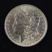 1885 $1 Morgan Silver Dollar at PristineAuction.com