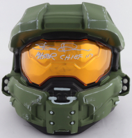 """Steve Downes Signed """"Halo"""" Master Chief Full-Size Helmet Mask Inscribed """"Master Chief 117"""" (Radtke COA) at PristineAuction.com"""