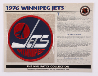 Official NHL 1976 Winnipeg Jets Patch Card with 9x12 Scorecard at PristineAuction.com