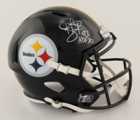 "Troy Polamalu Signed Steelers Full-Size Speed Helmet Inscribed ""HOF 20"" (JSA COA) at PristineAuction.com"