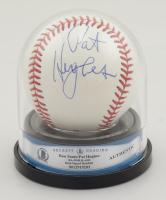 "Pat Hughes & Ron Santo Signed OML Baseball Inscribed ""WGN"" (BGS Encapsulated) at PristineAuction.com"