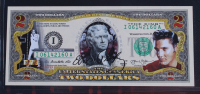 Elvis Presley Genuine Legal Tender Colorized U.S. $2.00 Two Dollar Bill Commemorative Edition Bank Note with Folder at PristineAuction.com