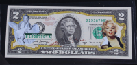 Marilyn Monroe Genuine Legal Tender Colorized U.S. $2.00 Two Dollar Bill Commemorative Edition Bank Note with Folder at PristineAuction.com