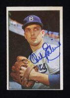 Carl Erskine Signed 1953 Bowman Color #12 (Beckett COA) at PristineAuction.com