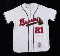 Warren Spahn Signed Braves Throwback Jersey (Beckett COA & Steiner COA) at PristineAuction.com