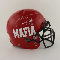 Emmanuel Sanders Signed Youth Full-Size Authentic On-Field Helmet (Beckett Hologram) at PristineAuction.com