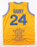 Rick Barry Signed Career Highlight Stat Jersey (JSA COA) at PristineAuction.com
