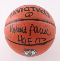 "Robert Parish Signed Celtics Logo NBA Game Ball Series Basketball Inscribed ""HOF 03"" (Schwartz Sports COA) at PristineAuction.com"