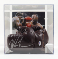 Mike Tyson Signed Vintage Boxing Glove with Phot Display Case (PSA COA) at PristineAuction.com