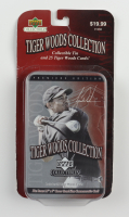 2001 Upper Deck Tiger Woods Collection Golf Tin Set Box with (25) Cards (See Description) at PristineAuction.com