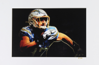 Joey Bosa - Chargers - Joshua Barton 12x18 Signed Limited Edition Lithograph #/250 (PA COA) at PristineAuction.com