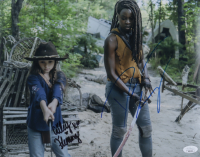 """Cailey Fleming & Danai Gurira Signed """"The Walking Dead"""" 11x14 Photo (JSA Hologram) at PristineAuction.com"""