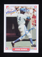 Ernie Banks Signed 1993 Nabisco All-Star Autographs #1 (Beckett COA) at PristineAuction.com