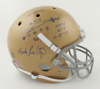 Rudy Ruettiger Signed Notre Dame Fighting Irish Full-Size Helmet with Hand-Drawn Play (Beckett COA) at PristineAuction.com