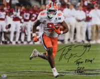 """Travis Etienne Signed Clemson Tigers 16x20 Photo Inscribed """"CFP Champs!"""" & """"Tiger King"""" (Beckett COA) at PristineAuction.com"""