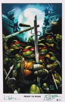 """Kevin Eastman Signed """"Teenage Mutant Ninja Turtles"""" 11x17 Photo With Hand-Drawn Sketch (Beckett COA) at PristineAuction.com"""
