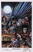 """Kevin Eastman Signed """"TMNT Batman VI"""" 11x17 Photo With Hand-Drawn Sketch (Beckett COA) at PristineAuction.com"""