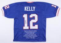 Jim Kelly Signed Career Highlight Stat Jersey (JSA COA) at PristineAuction.com