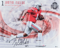 Justin Fields Signed Ohio State Buckeyes 16x20 Photo (Beckett COA) at PristineAuction.com