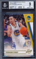 Stephen Curry 2010-11 Panini Season Update Signatures #167 #72/99 (BGS 9) at PristineAuction.com