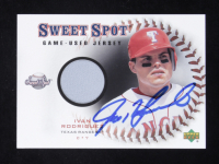 Ivan Rodriguez Signed 2001 Sweet Spot Game Jersey #JIR (Beckett COA) at PristineAuction.com