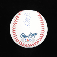 Nolan Ryan Signed OML baseball with Display Case with (4) Career Stat Inscriptions (PSA COA - Graded 10) at PristineAuction.com