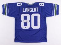 """Steve Largent Signed Jersey Inscribed """"HOF 95"""" (Schwartz COA) at PristineAuction.com"""