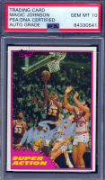 Magic Johnson Signed 1981-82 Topps Super Action #109 (PSA Encapsulated) at PristineAuction.com