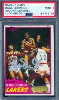 Magic Johnson Signed 1981-82 Topps #21 (PSA Encapsulated) at PristineAuction.com