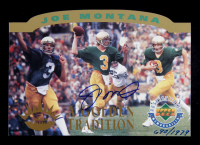 Joe Montana Signed 1993-97 Upper Deck Authenticated Commemorative Cards #4 1995 / Notre Dame Tradition (Beckett COA) at PristineAuction.com