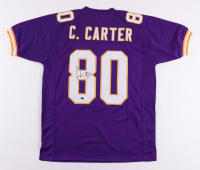 Cris Carter Signed Jersey (Schwartz Sports COA) at PristineAuction.com