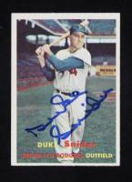 Duke Snider Signed 1957 Topps #170 (Beckett COA) at PristineAuction.com