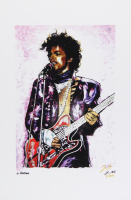 "Prince - ""Purple Rain"" - Joshua Barton 12x18 Signed Limited Edition Lithograph #/250 (PA COA) at PristineAuction.com"