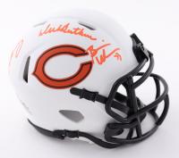 Brian Urlacher, Dick Butkus, & Mike Singletary Signed Bears Lunar Eclipse Alternate Speed Mini Helmet (Beckett Hologram) at PristineAuction.com