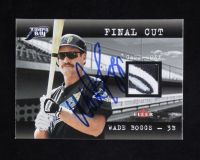 Wade Boggs Signed 2001 Fleer Genuine Final Cut #1 (Beckett COA) at PristineAuction.com