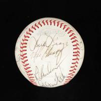 1979 Boston Red Sox OAL Baseball Team-Signed by (19) with Carl Yastrzemski, Carlton Fisk, Tim Rice, Dennis Eckersley (PSA LOA) at PristineAuction.com
