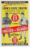 Joe Frazier vs Jerry Quarry Original 14x22 Boxing Poster (See Description) at PristineAuction.com