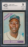 Hank Aaron 1966 Topps #500 (BCCG 9) at PristineAuction.com
