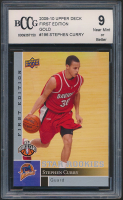 Stephen Curry 2009-10 Upper Deck First Edition Gold #196 RC (BCCG 9) at PristineAuction.com