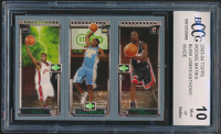 LeBron James 111 RC / Carmelo Anthony 113 RC / Dwyane Wade 115 RC 2003-04 Topps Rookie Matrix #JAW (BCCG 10) at PristineAuction.com