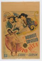 """Bud Abbott & Lou Costello Original """"Rio Rita"""" 11x17 Poster (See Description) at PristineAuction.com"""