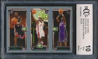Dwyane Wade 115 RC/LeBron James 111 RC/Chris Bosh 114 RC 2003-04 Topps Rookie Matrix #WJB (BCCG 10) at PristineAuction.com