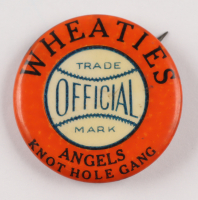 """Wheaties """"Official Trade Mark"""" Angels Knot Hole Gang 1930's Pin at PristineAuction.com"""